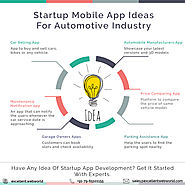 Startup Mobile App Ideas for automobile industry