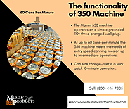 Functionality of 350 Can Carrier Applicator Machine