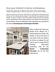 Why Choose Natural Quartz Countertops