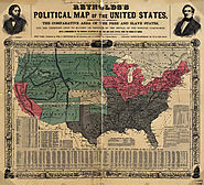 A map of the free and slave states.
