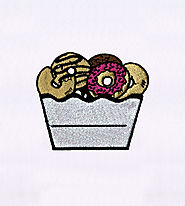 Basketful of Delicious Doughnuts Embroidery Design | EMBMall