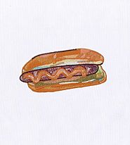Delectable and Juicy Hot Dog Embroidery Design | Machine Design | EMBMall