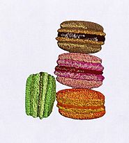 Delectable Macaroon Embroidery Design | EMBMall