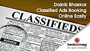 Now Book Ads on Dainik Bhaskar Easily with Bookadsnow