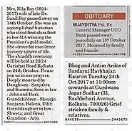 Obituary Messages Booking in Gujarat Samachar Advertisement Page