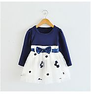 Casual Flower Dotted Bow Dress for Baby Girl - MyPreciousLittleOne