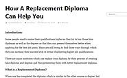 How A Replacement Diploma Can Help You – Same Day Diploma