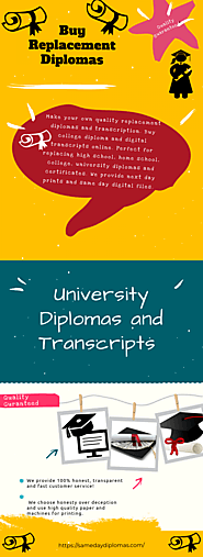 Buy Replacement Diploma | Visual.ly