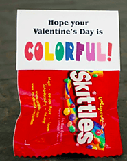 Skittles With Colorful Valentines