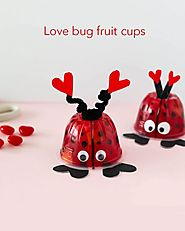 Adorable Fruit Cup Ladybugs