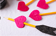 Graphite Pencils Turned Into Heart Arrows