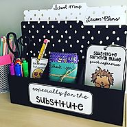 "Target Teachers Michelle&Hadar on Instagram: ""@mrshenryinfirst made this ""sub station"" for her substitute teacher! Th..."