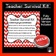 Teacher Survival Kit: EDITABLE by Teaching Is A Gift | TpT