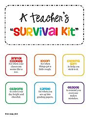 GIFT Teacher Survival Kit Tags - for a New Teacher or Student Teacher
