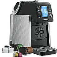 Gourmia GCM5100 One Touch Multi Capsule Coffee Machine - Compatible With Nespresso, K-Cup pods & More - Adjustable Te...