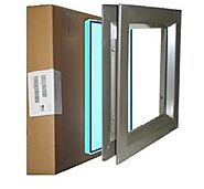 "Air Louver 6""(W) X 27""(H) Tempered Glass Pak-Vision Lite & Glazing 