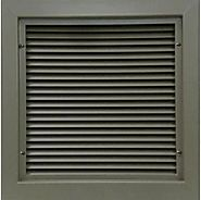 "Air Louvers 600 Series 12""(W) X 26""(H) Self-Attaching Door Louver 