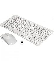 White Black Wireless Keyboard Mouse Combo