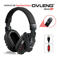 Buy Now OVLENG Q7 USB Computer High Definition Sound Headphones with Mic Volume Control at Lowest Price in Australia ...