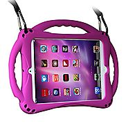 [New Design]TopEs iPad Mini Case Kids Shockproof Handle Stand Cover&(Tempered Glass Screen Protector) for iPad Mini, ...