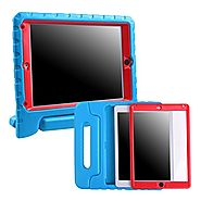 HDE iPad Mini 1 2 3 Bumper Case for Kids Shockproof Hard Cover Handle Stand with Built in Screen Protector for Apple ...