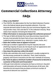 Commercial Debt Collections Attorney - KAVULICH & ASSOCIATES, P.C.