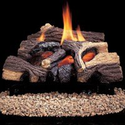 Comfort Flame CRB3624NRA River Canyon Oak Vent-Free Ceramic Fiber Logs, 24-Inch