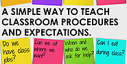 A Simple Way to Teach Classroom Procedures and Expectations • Teacher Thrive