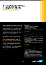 Creating Value for Utilities in a Digital World with SAP Cloud Platform