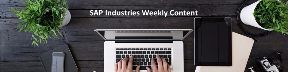 Headline for SAP Industries Weekly Content