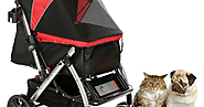 Pet Rover: Exhausted felines can be carried outdoors in pet strollers for cats