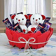 Buy/Send Cute Basket Of Surprise - YuvaFlowers