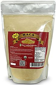 Raw Organic Maca Root Powder, Premium Peruvian Pure Superfood 1lb Bag by Pure Natural Miracles