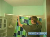 Bathroom Remodeling & Home Improvement Repairs : How to Install Shower Curtains
