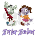 Z is for Zombies Shower Curtain on CafePress.com