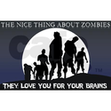 Zombie Love Shower Curtain on CafePress.com