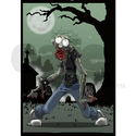 Zombie Undead Shower Curtain on CafePress.com
