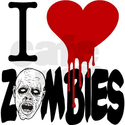 I Love Zombies Shower Curtain on CafePress.com