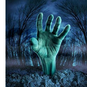 Zombie Hand Rising Shower Curtain on CafePress.com
