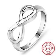 Mother's Day Sterling Silver Infinity Ring *FLASH SALE* – A&Z Trinkets