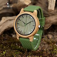 Bamboo Watches for Men and Women Silicone Strap Ideal Gifts Items C-B0 – Rockwood Watches & Boutique Items