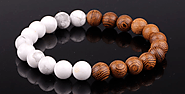 Wooden Beads and Natural howlite Stone – Panthera LEO LEO