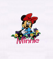 Cheeky Minnie Mouse Embroidery Design | EMBMall