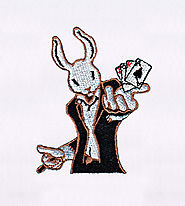 Anthropomorphic Magician Rabbit Embroidery Design | EMBMall