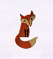 Beautifully Somber Little Fox Embroidery Design | EMBMall