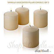 Buy Vanilla Unscented Pillar Candle 3 X 3 Inch On Shopacandle