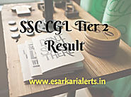 SSC CGL Tier 2 Result 2017 CGL Tier-II Exam Merit List/Cut Off Marks