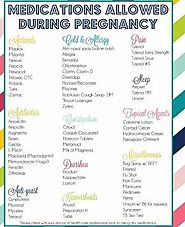 Medicines you can take while pregnant.
