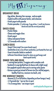 Meals ideas for a fit pregnancy