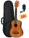 Oscar Schmidt by Washburn OU5 Deluxe Concert Ukulele Bundle with Hard Case, Tuner, and Polishing Cloth - Hawaiian Koa...